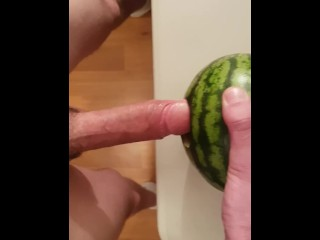Fucking that watermelon