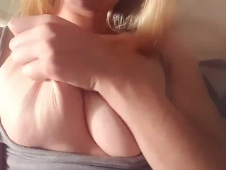 Ex teasing me with big tits