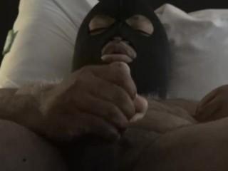 Masked Black Chub Daddy JO to porn