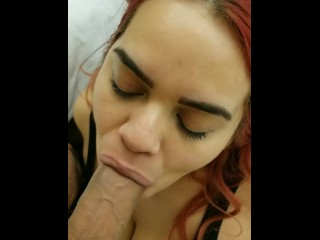 I SUCK daddy's big Puerto Rican cock til he cums on my face