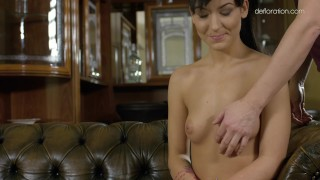 Bella Beretta being rubbed and shows her sexy body porno