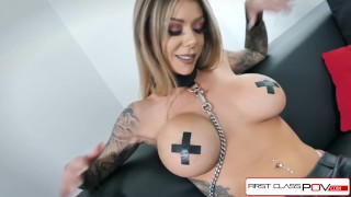 First Class POV - Watch Karma Rx take her mouth and pussy full of dick Teenager sucking