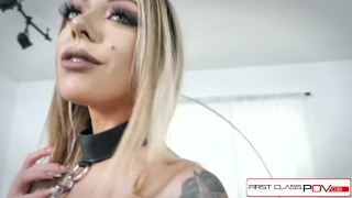 First Class POV - Watch Karma Rx take her mouth and pussy full of dick Blacked swinger