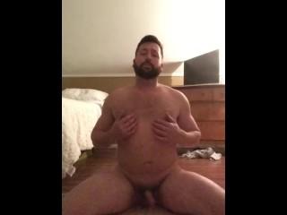 Dildo fucking my hole part 1