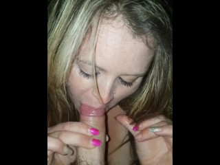 Sexy Brunette With Big Tits And Great Nails Gives Sloppy Wet Blowjob