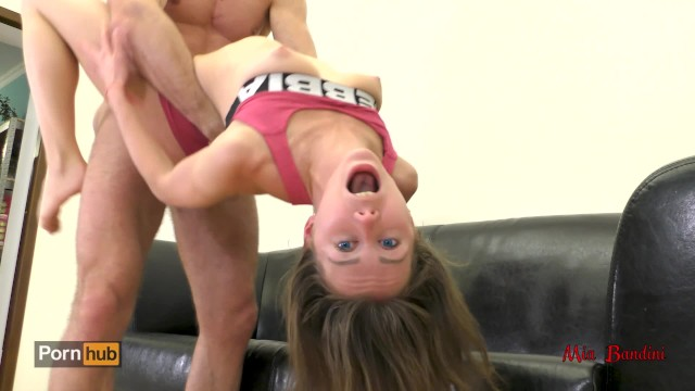 Athletic Teen Fuck And Cum On Her Fitness Shorts And Abs -5728