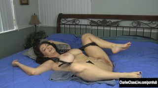 Big Tit MILF Charlee Chase Foot Tickled and Fucked! Hoodfuckers face