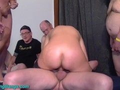 Milf blonde gang bang slutload