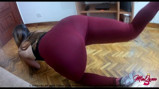 Preview 1 of Petite Teen Latina in Yoga Pants fucking Hardcore (Pussy Creampie)
