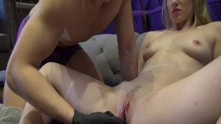 G Spot and Squirting 101 with Kenneth Play & Riley Reyes (Sex Hack How To) Petite blowjob