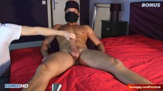 Yanis Handsome hetero male's big dick to wank in spite of him.