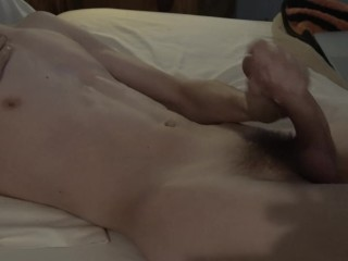 Georgia Twink Morning Wood Cum