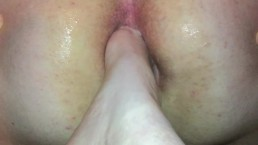 Femdom foot fucking male slave