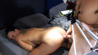 You'll take this big dick up your ass and like it slut!