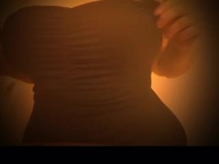 Big tit curvy blonde striptease