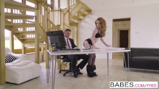 Office Obsession - Ginger girl Ella Hughes gets fucked at work
