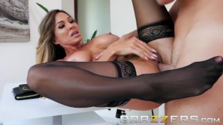 Slutty Wife Fucks Her Husbands Helper - Brazzers