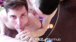ManRoyale Vacation hotel threesome before night out