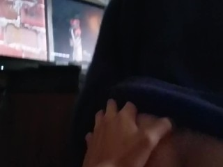 Gf goes for a quick ride during video game cutscene