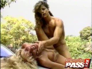 Busty Blonde Hitch Hiker Fucked
