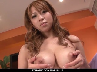 Strong facial to end busty Ruru Kashiwagi?s amazing fuck play