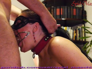 Ultimate dental gag throat abusing of slut slave whore