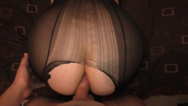 Teen Big Ass First Anal in Nylon Pantyhose Amateur Sex