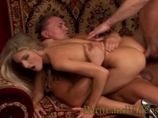 Sexy Video 20 Fucking, hot skinny blonde slut taking 2 big cocks In every hole anal threesome dp Babe Blonde