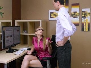 Secret Office Slut Part 1 of 2 Katie Banks job is on the line