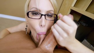 Secret Office Slut Part 2 of 2 POV BJ HUGE Facial Cumshot Katie Banks