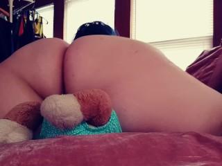 Big Booty BBW Latina Humps Cums on Teddy Bear