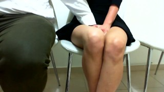 Playing in public.I MAKE HER CUM ON A PUBLIC CONFERENCE AT WORK