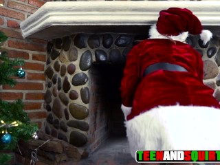 Anal beauties santa claus gets caught kink orgasm squirting petite teenager young chr
