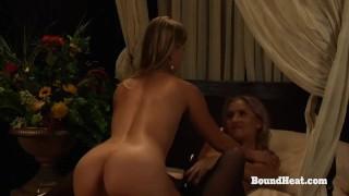 Slave And Mistress Playing While Voyeur Maid Masturbates Mini point
