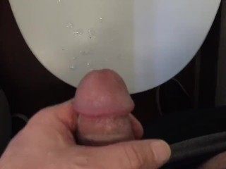 Airplane Cum - Bathroom Jerk Off on a Plane