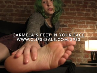 Carmela's Feet in Your Face - DreamgirlsClips.com