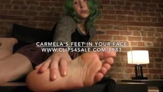 Carmela's Feet in Your Face - DreamgirlsClips.com
