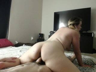 Chubby Blonde Rides Dick And Takes Load In Mouth