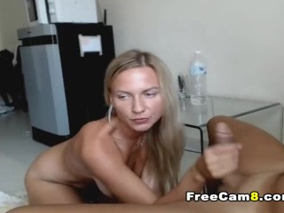 Busty Blonde Blowjob on Nice Big Cock