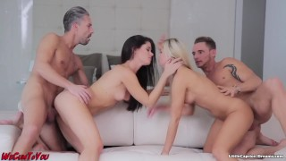 Swinger meeting - WeCumToYou Part3. - Little Caprice Step blonde