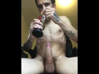 Stoned Fleshlight fuck