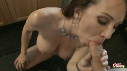 Sexy Milf Sucks and Fucks Until Her Tits Are Covered in CUM