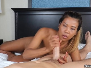 Petite Asian Teen Handjobs Big Dick