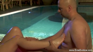 Sex pregnant massage the for beautiful woman blonde couples
