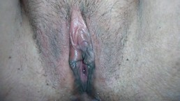 Queef After Creampie ! Close Up Hairy Cameltoe Milf Pussy Fucked