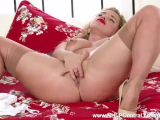 Best russian porn movie name blonde milf olga cabaeva strips in retro lingerie vintage nylons and wa