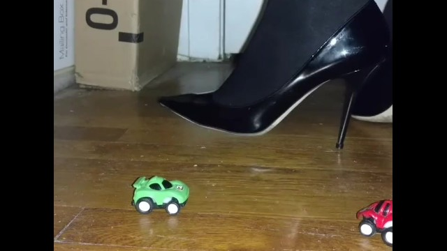 Kinky jimmy shemale galleries Black patent jimmy choos and tights dominate tiny cars toy crush