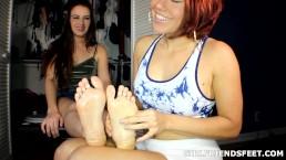 Sexy Lesbian Foot Massage