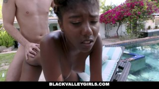 Swim teen blackvalleygirls prissy ebony fucks coach outdoors blackvalleygirls