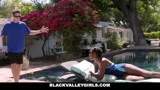 BlackValleyGirls - Prissy Ebony Teen Fucks Swim Coach Guy cute